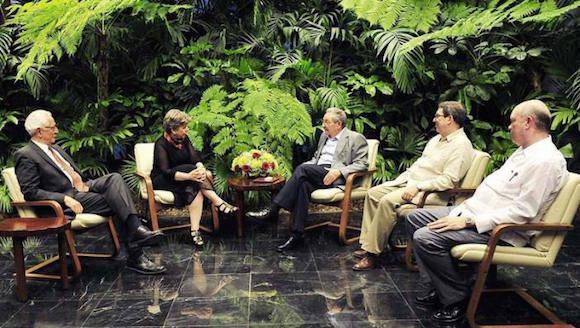 Recibió Raúl Castro a la Secretaria Ejecutiva de la CEPAL