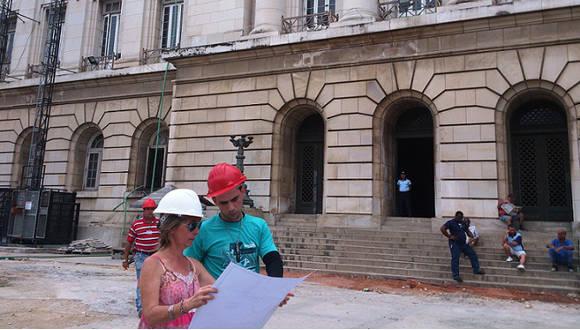 """""""Mi mayor reto es hacer mi trabajo bien, y el mayor reto desde 2015 es reparar el Capitolio"""", dice Alina Miret."""