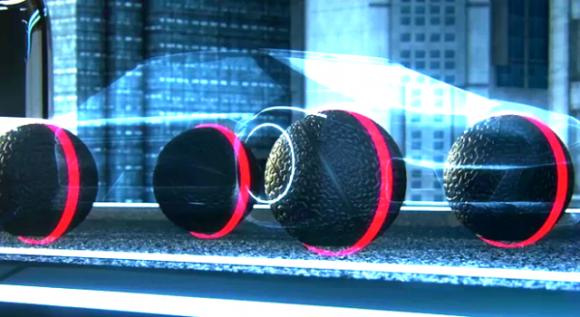Cómo se verían el prototipo de un automóvil que utilice los neumáticos que propone Goodyear. Foto tomada de eleconomista.es