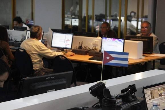 Sala de prensa. Foto: Jose Raúl Concepción / Cubadebate.