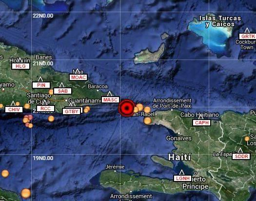 Reportan sismo perceptible en Guantánamo y Holguín