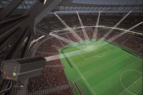 Sistema de Hawk-Eye usados en el fútbol. Imagen: sync.pe