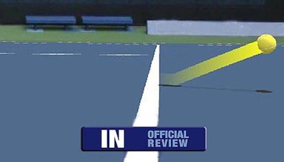 Fotograma de una repetición de hawk-eye en el tenis. Imagen: sync.pe