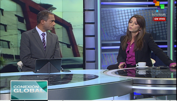 Patricia Villegas se refiere a decisión anunciada el pasado domingo en Argentina de retirar la señal del canal teleSUR de las cableras. Foto: Telesur.