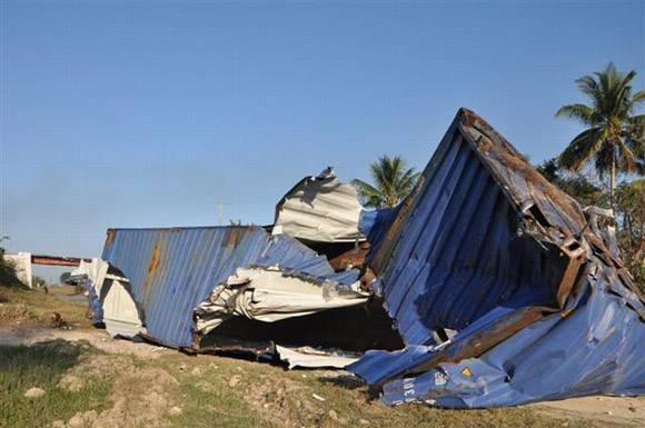 Accidente de tránsito en Jatibonico deja dos muertos y 28 lesionados. Foto: Vicente Brito/ Escambray.
