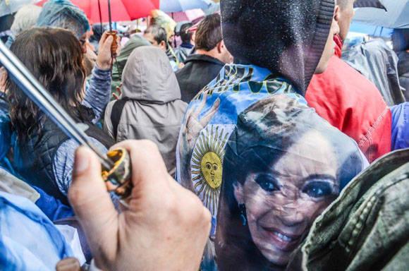 El pueblo argentino apoya a Cristina Fernández. Foto: Kaloian/ Cubadebate.