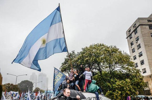 Concentración en apoyo a Cristina Fernández. Foto: Kaloian/ Cubadebate.