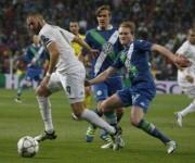 Benzema en el partido entre el Real Madrid vs Wolfsburg. Foto: ANSA/EPA.
