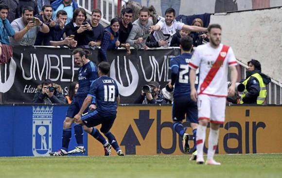 Bale consiguió un doblete frente al Rayo. Foto tomada de Marca.