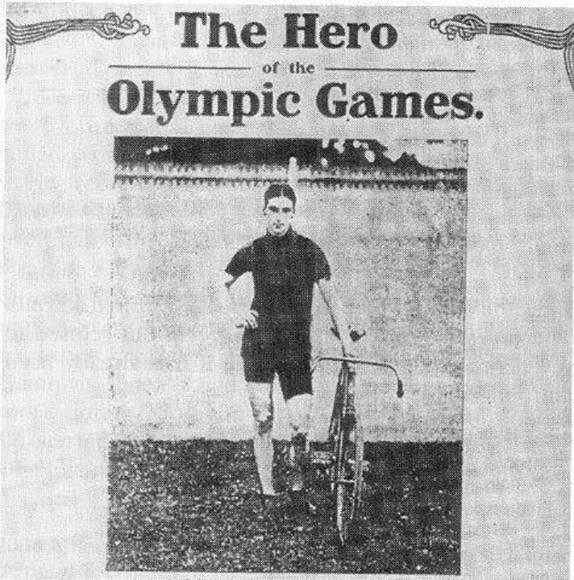 C.H. Bartlett (ciclismo 100 Km.), 1908.