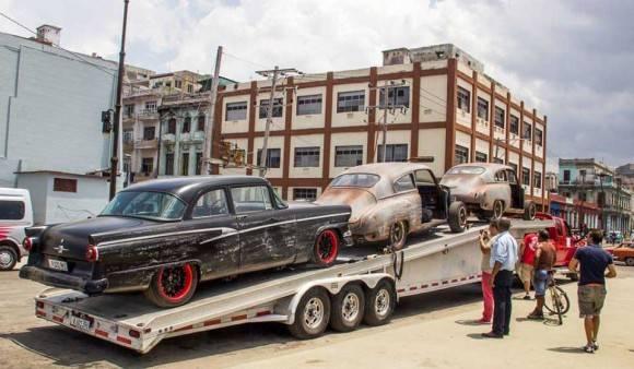 """""""Rápido y Furioso"""" se filma en La Habana desde el 22 de abril hasta el 5 de mayo. Foto: David González."""