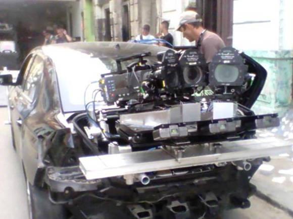 Uno de los autos que aparecerá en la cinta. Foto: Francisco Rodríguez Cruz/ Facebook.