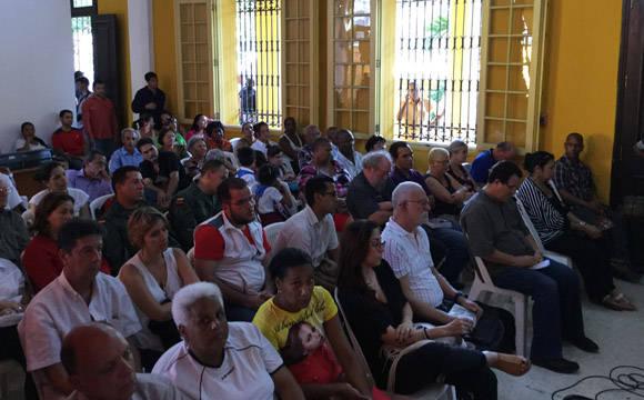 La actividad tuvo lugar en la Casa Cultural del ALBA, en el Vedado habanero. Foto: Cubadebate.
