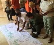 Se hizo un mural con ideas sobre Chávez. Foto: Cubadebate.