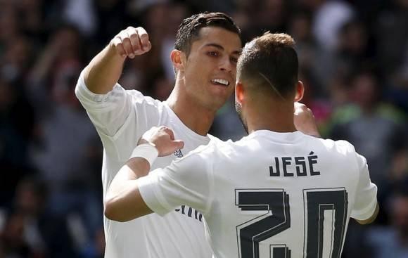 Cristiano y Jesé se asistieron mutuamente. Foto tomada de Marca.