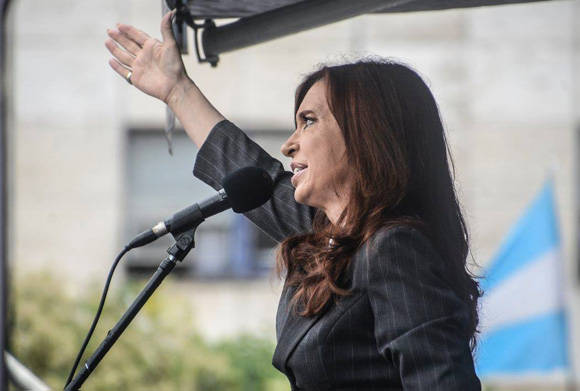 """""""Vamos a volver"""", fue la expresión de Cristina Fernández al salir. Foto: Kaloian/ Cubadebate."""