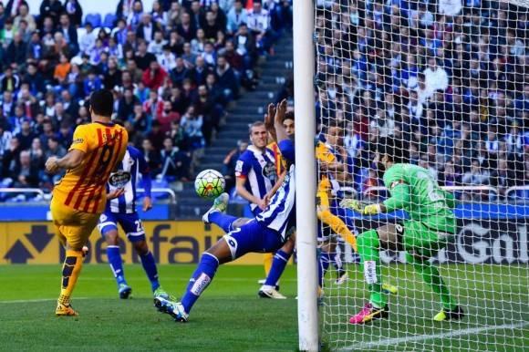 El primer gol de Luis Suárez. Foto: Getty Images