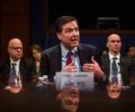 Al ser preguntado por los periodistas durante una conferencia celebrada hoy, el director del FBI, James Comey, evitó revelar la cifra exacta que se pagó a los piratas informáticos. Foto: EFE