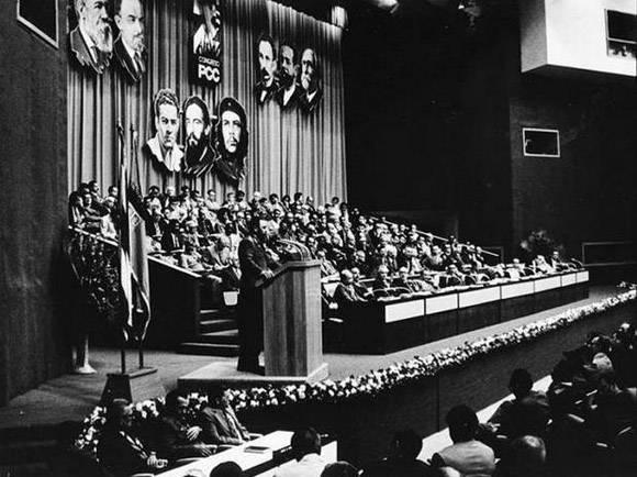 Fidel Castro en el Segundo Congreso del Partido. Foto: Liborio Noval.