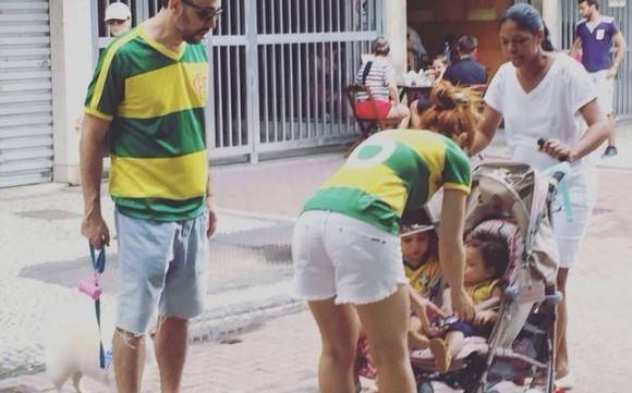 Manifestación en Brasil.