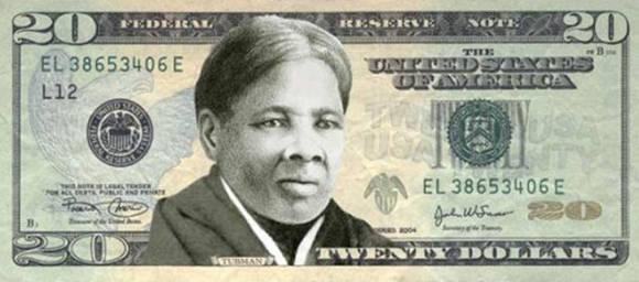 Así podría ser el nuevo billete de 20 dólares con la imagen de Harriet Tubman.