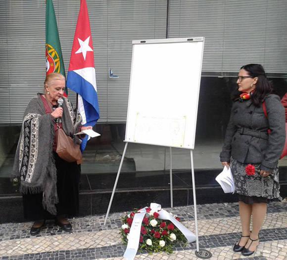 Se recordaron los atentados contra la Revolución cubana y las ideas de Martí.  Foto: Embajada de Cuba en Portugal.