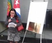 Representantes de la embajada cubana pronunciaron discuros en homenaje a los mártires.  Foto: Embajada de Cuba en Portugal.
