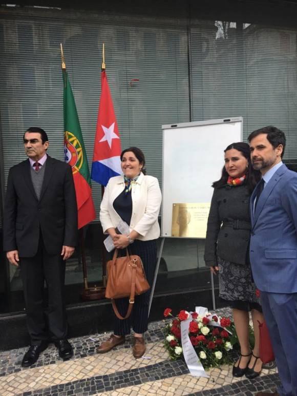 Homenaje a mártires cubanos en Portugal. Foto: Embajada de Cuba en Portugal.