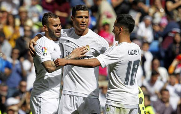 Jesé, Cristiano y Lucas fueron la delantera del Real Madrid contra el Eibar. Foto tomada de Marca.