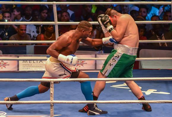 En los súperpesados (+ 91Kg), Leinier Peró venció sobre Elvis García.  Foto: Marcelino Vázquez Hernández/ ACN.
