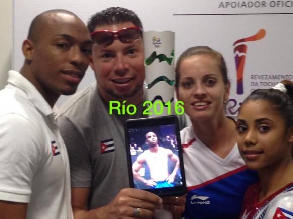 La delegación gimnástica cubana que estará en Río 2016. Foto: Tomada de la cuenta de Facebook del entrenador Carlos Rafael Gil
