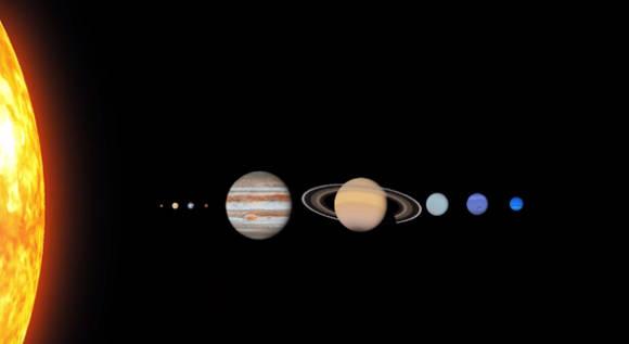 Los planetas del Sistema Solar: Mercurio, Venus, La Tierra, Marte, Júpiter, Saturno, Urano, Neptuno y a ellos se sumaría el misterioso Planeta Nueve, aún sin nombre.