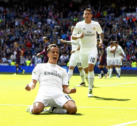 Lucas Vázquez celebró con rabia su gol, el 2-0 del Madrid. Foto: Rafa Casal/ Marca.