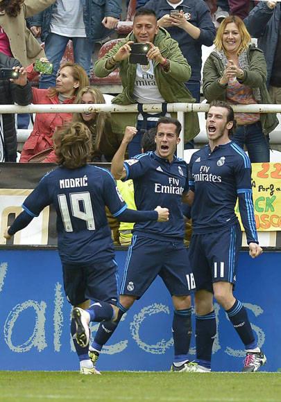 Lucas Vázquez y Gareth Bale fueron los goleadores blancos. Foto EFE.