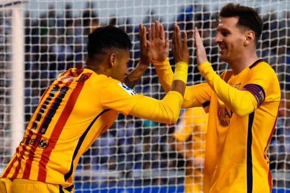 Neymar y Messi Foto: Getty Images
