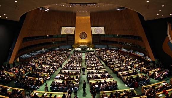 Sala de la Asamblea General de Naciones Unidas. Foto: ONU.