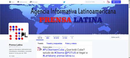 Prensa Latina Twitter