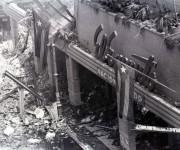 Ruinas de la tienda El Encanto tras el sabotaje. Foto: Archivo.