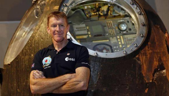El astronauta británico Tim Peake. Foto: Reuters.