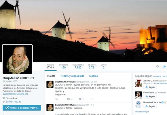 Tweets el Quijote, Miguel de Cervantes_2