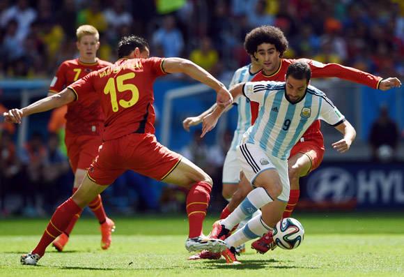 Argentina eliminó a Bélgica en el Mundial de Brasil 2014, al ganar 1-0 en cuartos de final. Foto: AFP/ Pedro Ugarte.