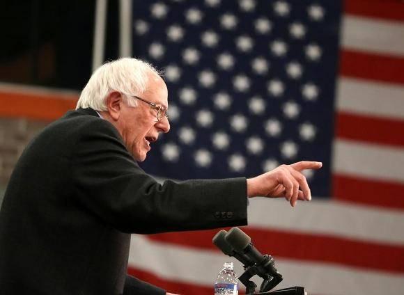 Aspirante demócrata a la presidencia de Estados Unidos, Bernie Sanders. Foto: Boston Globe.