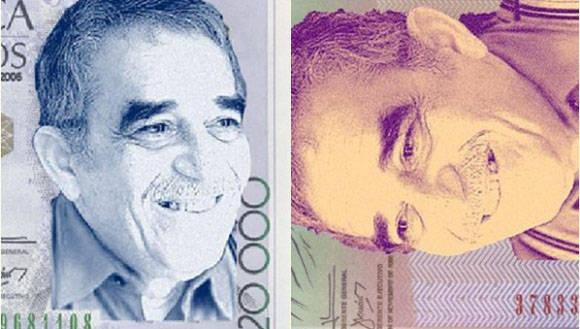 El nuevo billete de 50 mil, con el rostro de Gabo, que circulará el próximo año. Foto: Telesur.