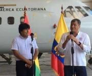 Presidente de Ecuador, Rafael Correa, y su par boliviano, Evo Morales. Foto: Presidencia de Ecuador.