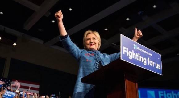 Hillary Clinton en campaña.
