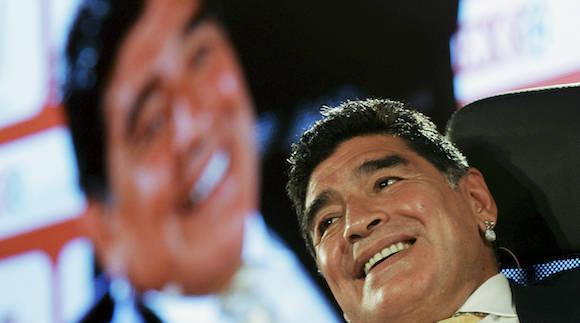 Diego Armando Maradona, leyenda del fútbol. Foto: Raad Adayleh/ AP