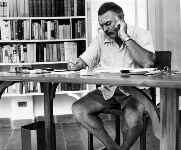 Hemingway en Finca Vigía.