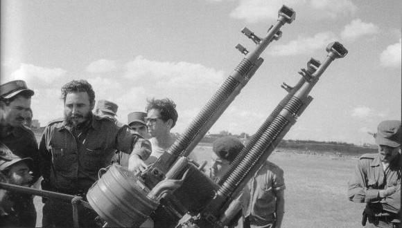Fidel en Playa Girón. Foto: Archivo.