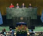 Secretario General de la ONU, Ban Ki-moon, preside la ceremonia. Foto: EFE.