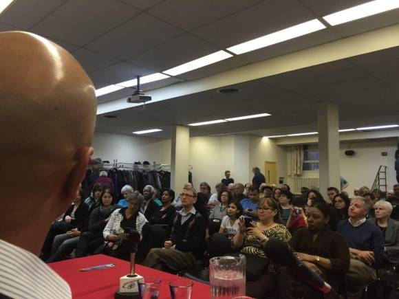 Héroe cubano Gerardo Hernández Nordelo participa en acto de solidaridad en Montreal. Foto:  Consulado General de Cuba en Montreal.